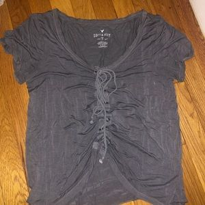 American Eagle Soft and Sexy Tie up Tee